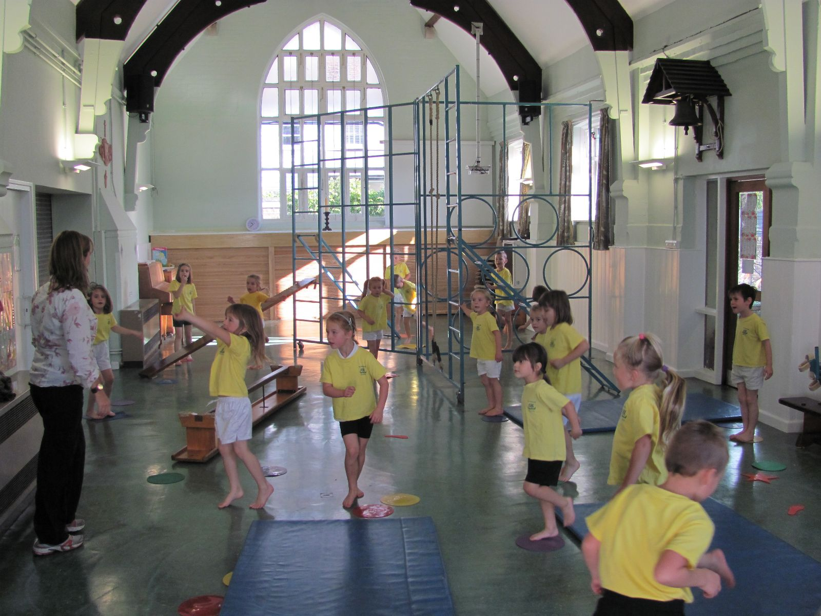PE Lesson in School Hall